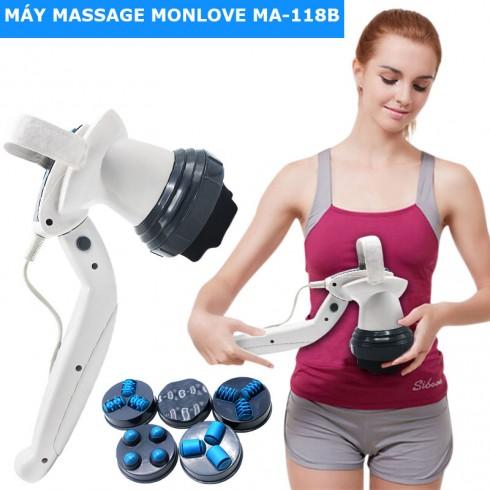 Máy massage cầm tay Monlove MA-118B - 6 đầu