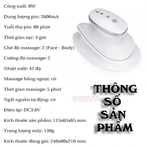 Máy massage đánh tan mỡ bụng và nâng cơ mặt Hàn Quốc Skin Clinic 2in1