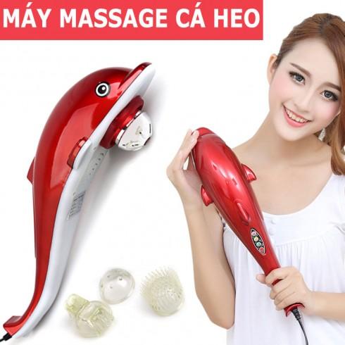 Máy massage cầm tay cá heo điện tử 3 đầu