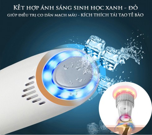 Máy hút mụn kết hợp đầu massage nóng lạnh cao cấp SLL-21