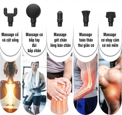 Súng massage gun Ai Booster Lightsaber 5 tốc độ - Tặng đế sạc