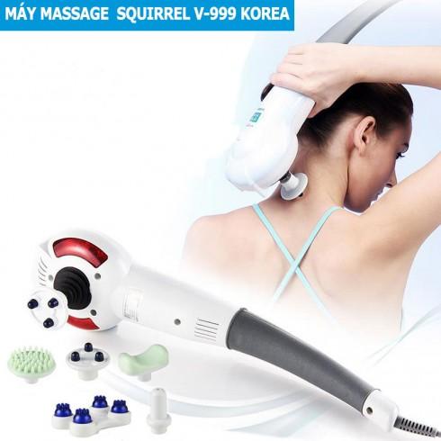 Máy massage cầm tay 7 đầu nhập khẩu Hàn Quốc Squirrel V-999