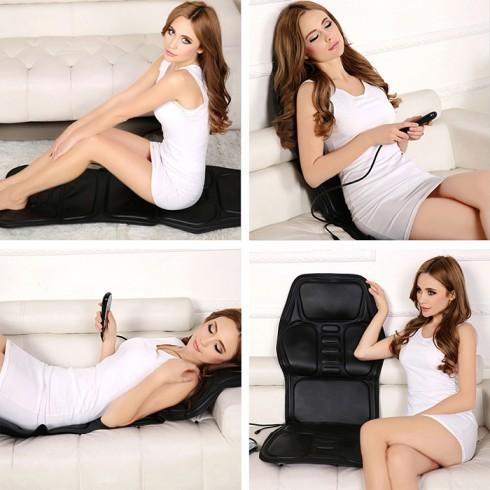 Nệm massage ô tô hoặc tại nhà rung và có nhiệt sưởi MingZhen 308 - 12V