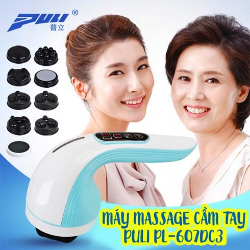 Máy massage cầm tay pin sạc Puli PL-607DC3 - 8 đầu