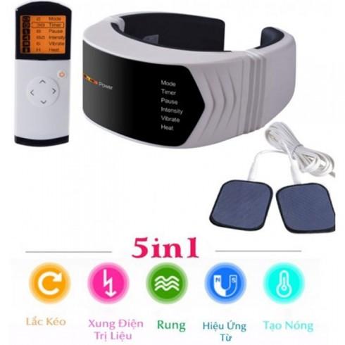 Máy massage cổ xung điện rung tạo nóng pin sạc PULI PL-758