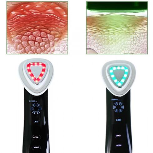 Máy massage mặt điện di RF đa năng kết hợp ánh sáng sinh học