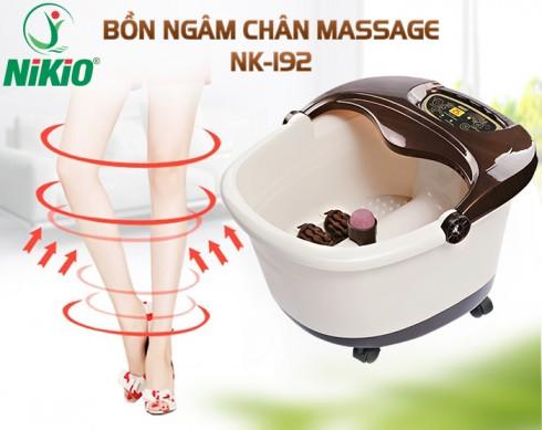 Bồn ngâm chân massage hồng ngoại Nhật Bản Nikio NK-192