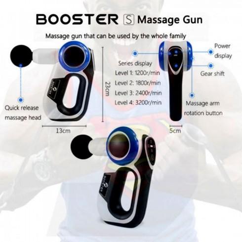 Súng massage gun cầm tay xoay 3 gốc Booster S - 120W
