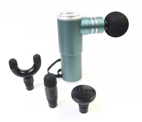Súng massage giải cơ Booster Pocket MINI - Hỗ trợ điều trị đau cơ khởi phát muộn - Xám xanh