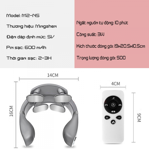Máy massage cổ xung điện cao cấp Ming Zhen MZ-N5