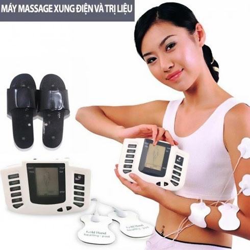 Máy massage xung điện 6 miếng dán trị liệu kết hợp mát xa lòng bàn chân