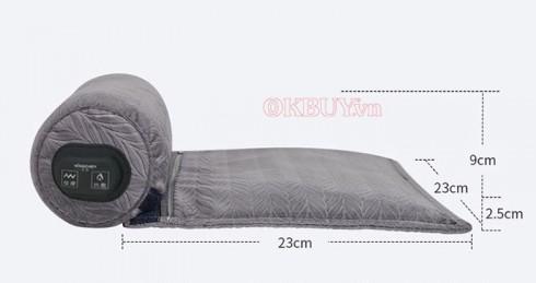Gối massage cổ vai gáy tạo nhiệt nóng trị liệu Mingzhen MZ-MR053