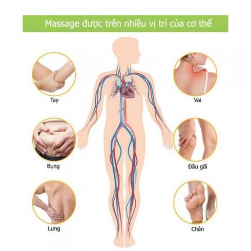 Máy massage cầm tay đa năng 11 đầu Luxurious Bluedea 111