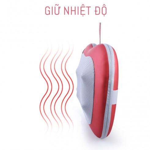Gối massage hồng ngoại ô tô cao cấp Puli PL-811 - Trái táo