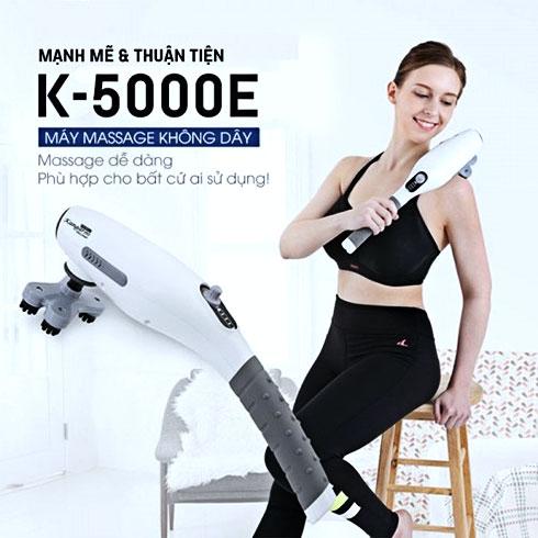 Máy massage cầm tay pin sạc Hàn Quốc WelbuTech Kangaroo K-5000E