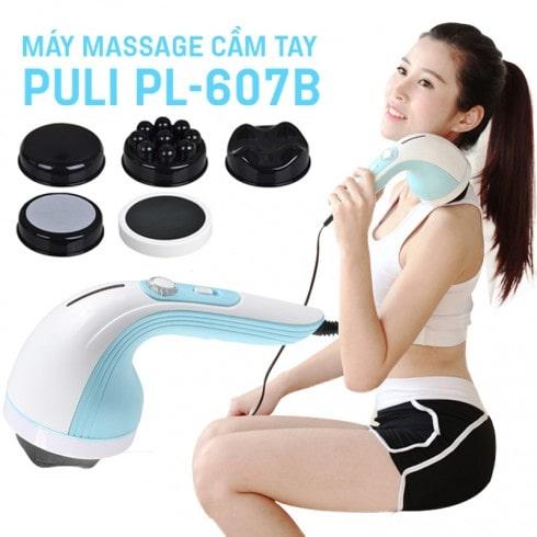 Máy massage cầm tay 4 đầu Hàn Quốc Puli PL-607B – Cơ