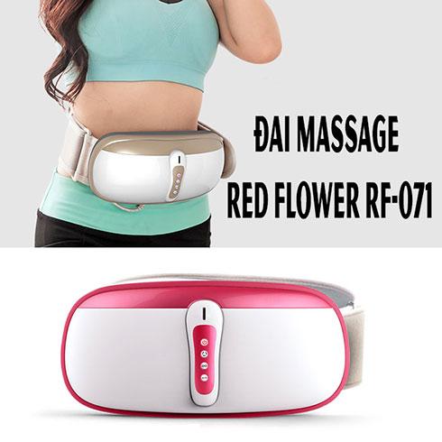Đai massage rung lắc giảm mỡ bụng RED FLOWER RF-071