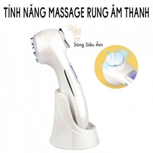 Máy massage mặt điện di đa năng 2 đầu 9901 - 6in1