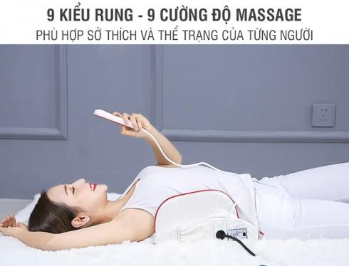 Đệm massage lưng rung nóng kèm đèn hồng ngoại YJ-M4