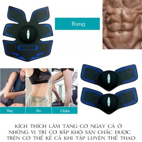Máy massage tạo cơ bụng 6 múi GYM pin sạc xung điện tạo cơ EMS