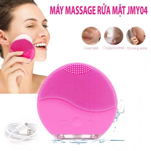 Máy massage rửa mặt mini với chế độ rung tần số cao pin sạc Hàn Quốc JMY04