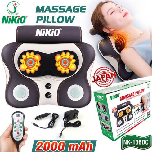 Máy (gối) massage đấm bóp trị đau lưng cổ vai gáy pin sạc Niko NK-136DC