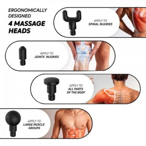 Súng massage gun điều trị đau nhức cơ bắp Mỹ Booster PRO X - 90W