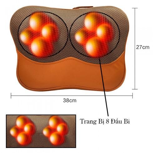 Máy đấm lưng massage hồng ngoại PULI PL-809A - 8 bi