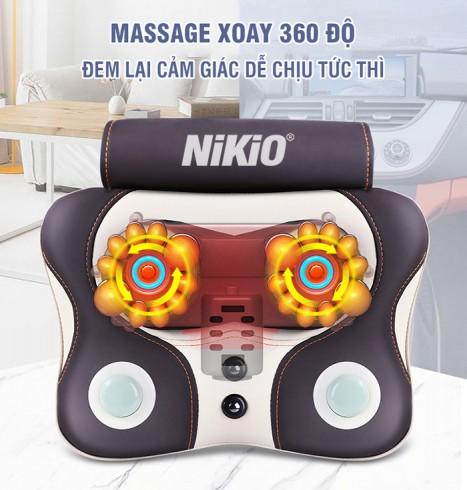 Máy massage đấm lưng kết hợp hồng ngoại đa năng Niko NK-136AC