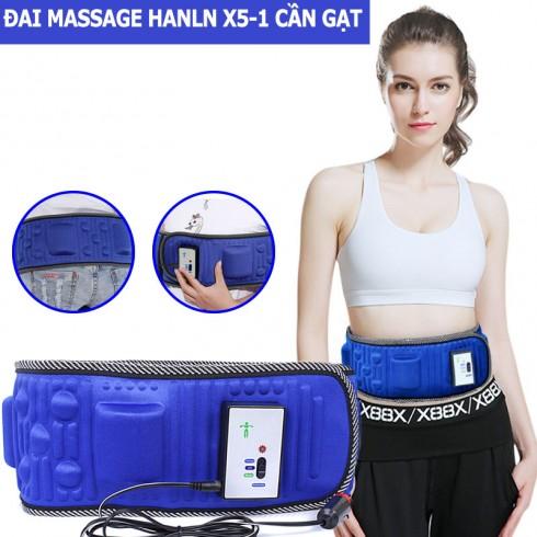 Đai massage giảm mỡ bụng Hanln X5-1 cần gạt