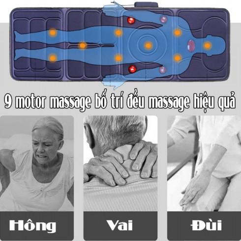 Nệm massage toàn thân đèn hồng ngoại JB-618A