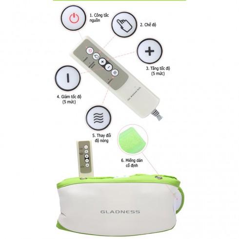 Máy massage giảm mỡ bụng Gladness ST-606C