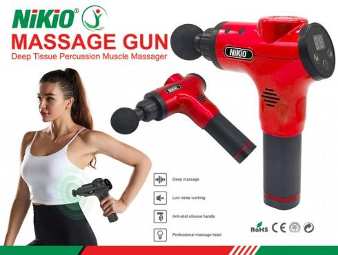 Súng massage thư giãn cơ bắp 6 đầu Nhật Bản Nikio NK-170B - Màu đỏ
