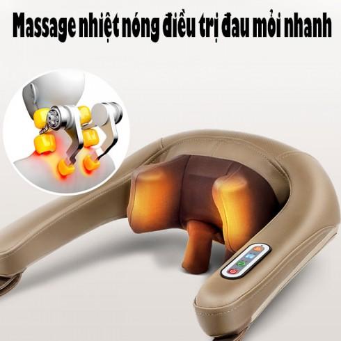 Máy massage cổ xoa bóp ấn huyệt trị liệu đau mỏi Ming Zhen MZ-666C