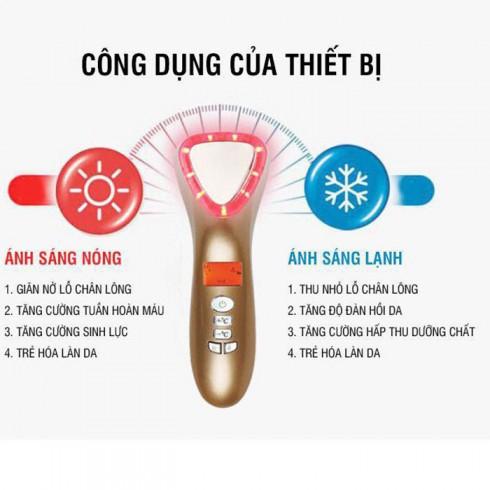 Búa massage điện di nóng lạnh trẻ hóa da mặt tạo inon D002