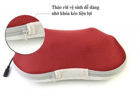 Gối massage cổ hồng ngoại 6 bi PULI PL-817B