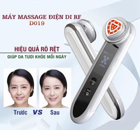Máy massage mặt ion điện di RF làm trẻ hóa da D019 - 5in1