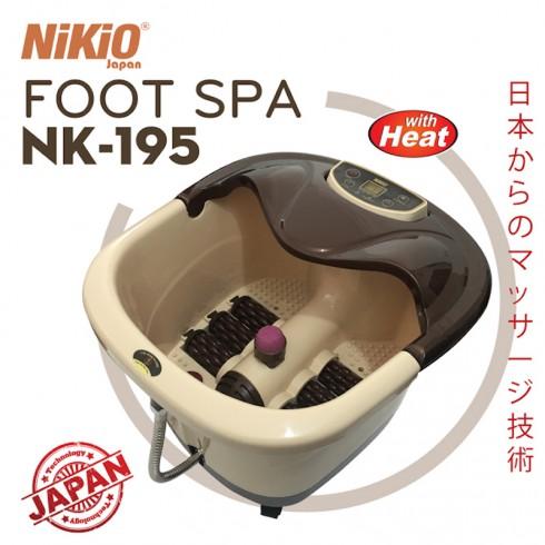 Video Bồn ngâm massage chân hồng ngoại cao cấp Nikio NK-195 - Hàng chính hãng Nhật Bản - hỗ trợ điều trị tê mỏi chân, cải thiện tuần hoàn máu, tạo giấc ngủ ngon