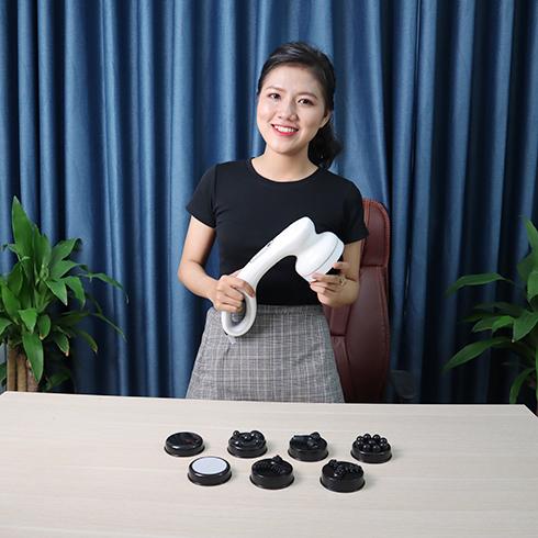 Máy massage cầm tay Hàn Quốc Puli PL-667DC3 - Pin sạc