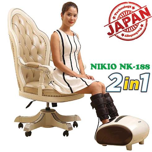 Máy massage chân áp suất khí Nikio NK-188 - Bảo hành 2 năm