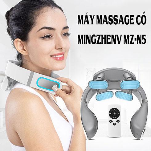 Video review máy massage cổ trị liệu rung, xung điện pin sạc Ming Zhen MZ-N5
