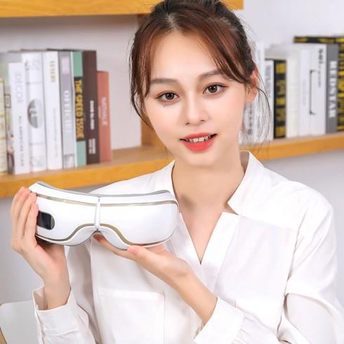 Video Máy massage mắt áp suất khí Bluetooth YJ-518 - Dòng cao cấp - hỗ trợ thư giãn mắt, giúp mắt khỏe mạnh