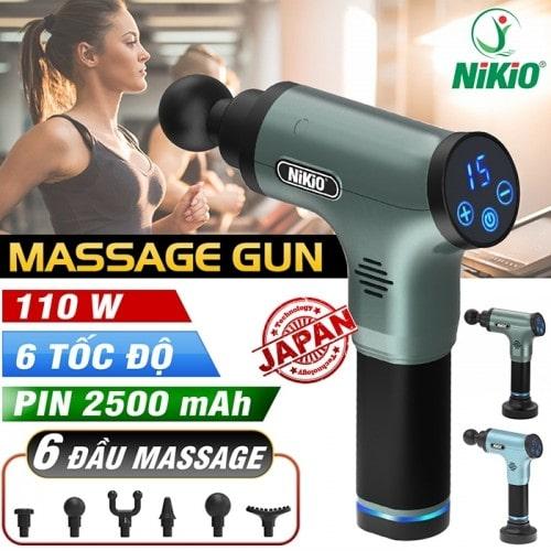 Video review súng massage gun Nikio NK-172 - thiết bị điều trị đau cơ thể thao thế hệ mới