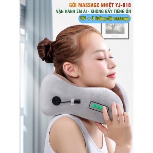 Video giới thiệu gối ngủ massage điều trị đau mỏi cổ Nhật Bản Yijia YJ-818 - hỗ trợ giảm mỏi cổ khi đi tàu xe