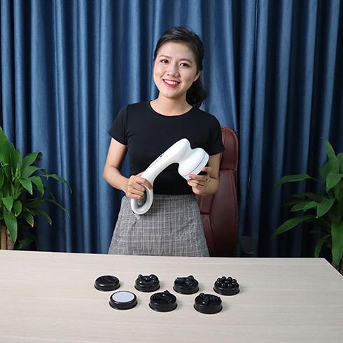 Video Máy massage cầm tay dùng pin sạc 8 đầu Puli PL-607DC3 - Hàn Quốc
