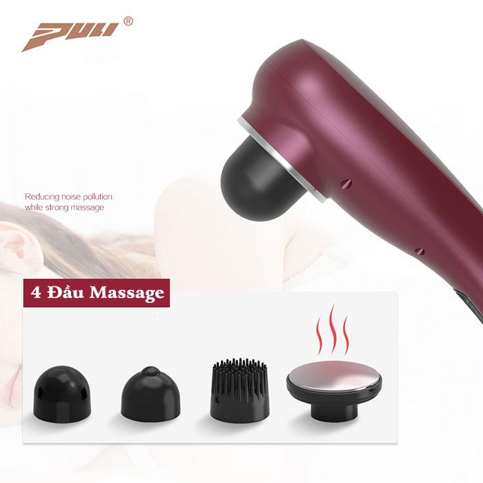 Máy massage bụng, mặt cầm tay pin sạc PULI PL-622 - Có đầu nóng
