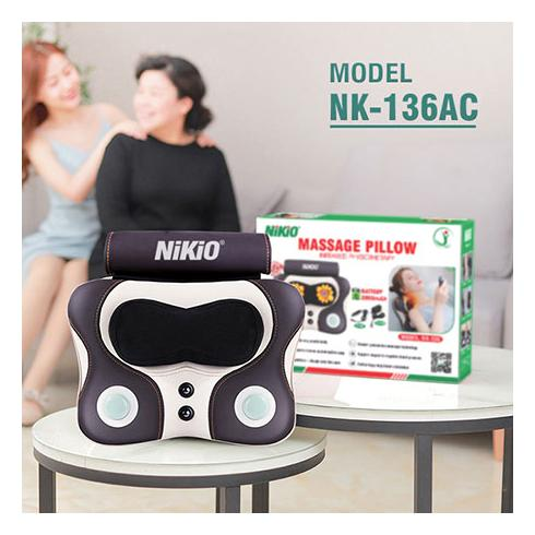Video Review máy massage đấm bóp trị đau lưng cổ vai gáy Nikio NK-136DC - Dòng cao cấp pin sạc