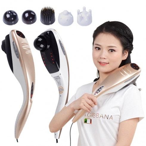Video máy massage cầm tay cán dài 5 đầu Puli PL-610B - Điện tử