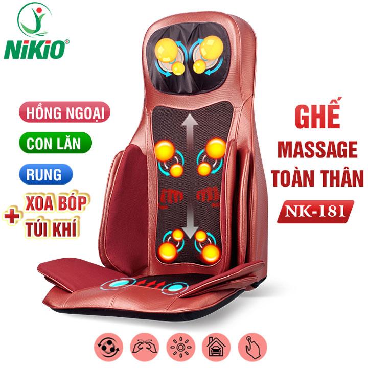 Video Review Ghế massage nhiệt hồng ngoại đấm bóp day ấn túi khí toàn thân Nikio NK-181 - xoa dịu mọi cơn đau