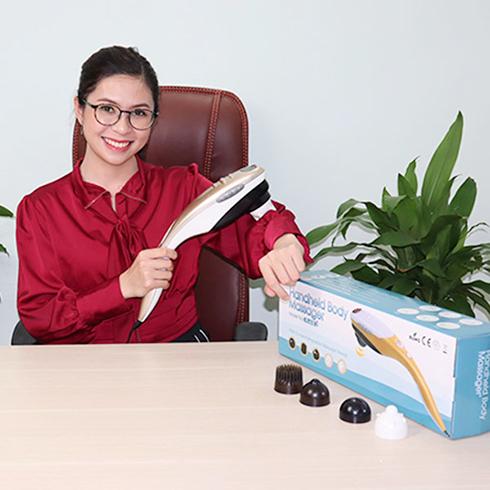 Máy massage cầm tay 5 đầu Hàn Quốc Puli PL-610B giá rẻ